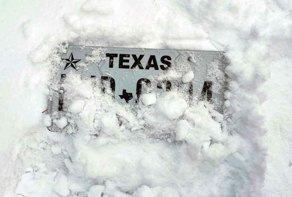 Snowstorm in Texas
